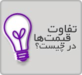 تفاوت قیمت ها در چیست